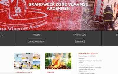 Hulpverleningszone Vlaamse Ardennen lanceert nieuwe Website