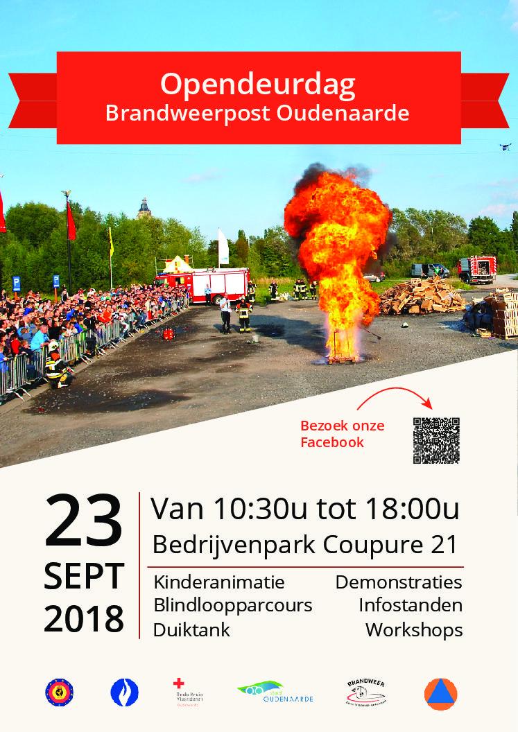 Opendeur brandweer Post Oudenaarde op 23 september